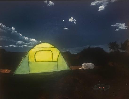 Yellow tent artsthrive
